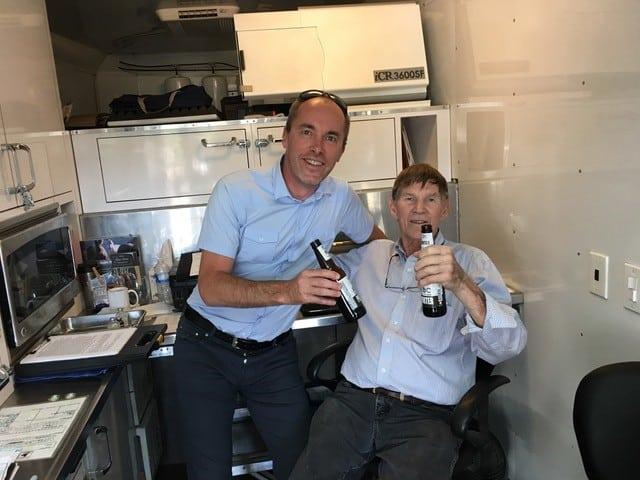 Richard Miller DVM with Mathias Le Faucheur