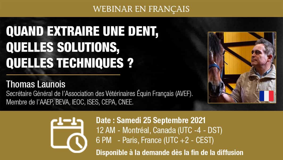 [Webinar HDE] Quand extraire une dent, quelles solutions, quelles techniques ? – Dr. Thomas Launois